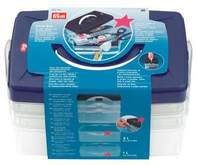 Prym 612403 | Click Craft/Sewing Storage Box/Organiser | 24 x 16.5 x 14cm