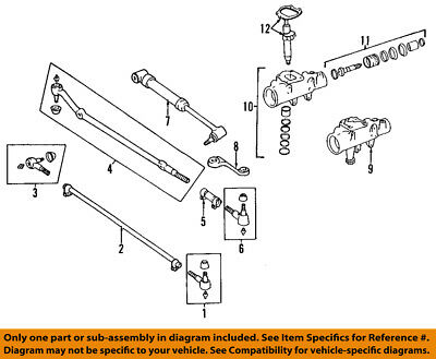 1991 For Jeep Wrangler Front Right Inner Steering Tie Rod ...  Jeep Wrangler Engine Diagram on