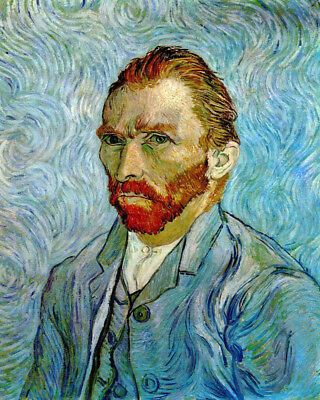 Self-Portrait Painter VINCENT VAN GOGH Glossy 8x10 Photo Genius Poster Print