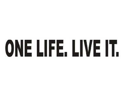 One Life. Live It. 4X4 Off Road Land Rover Disco Jeep 4X4 Vinyl Sticker Decal