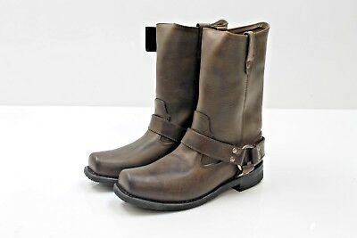 River Road Traditional Harness Mens Square Toe Boot Brown 10 NEW!