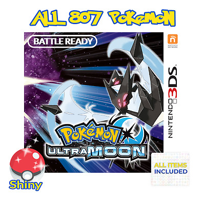 POKEMON ULTRA MOON & Ultra Sun 3DS & Datel Action Replay