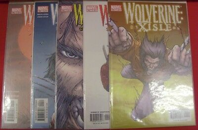 Wolverine Xisle 1-5 Marvel Comic Set Complete Bruce Jones Jorge Lucas 2003 Nm