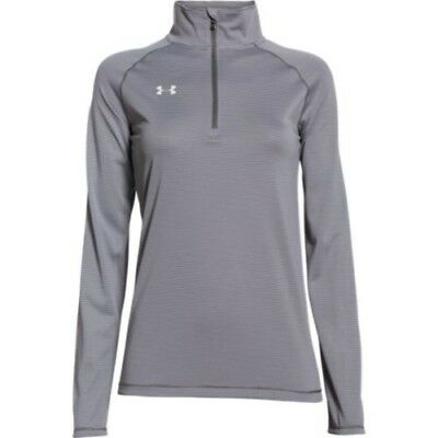 Under Armour Stripe Tech 1/4 Zip Top - Women's - Graphite - XS - 1276211-041