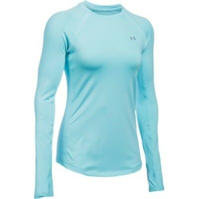 Under Armour 1281244-472 Women's ColdGear Crew - Maui/Maui-X-Small