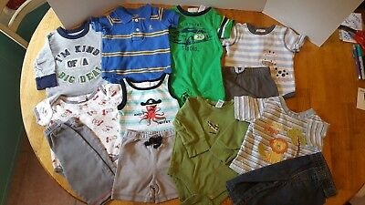 Baby Boy Clothes 3-6 Months Lot of 12 pieces Baby Gear Baby Gap Mini Wear