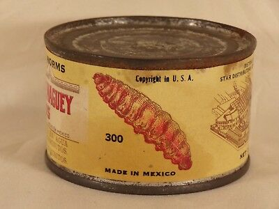 Vintage / Antique Fried Agave Worms Can Tequila Bar Grand Rapids MI Jose Cuervo