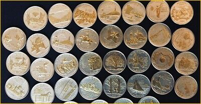 GOLD AND SILVER HIGHLIGHTED U.S. STATEHOOD QUARTERS 1999-2008 Single Your Choice