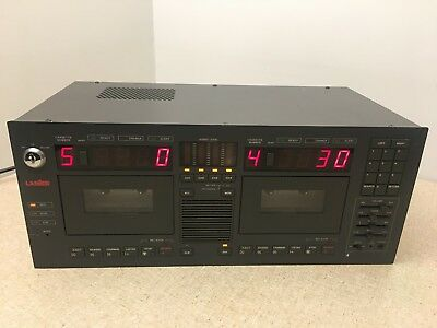 Lanier LCR-5 DUAL AUDIO CASSETTE RECORDER 4 Channel Professional Player