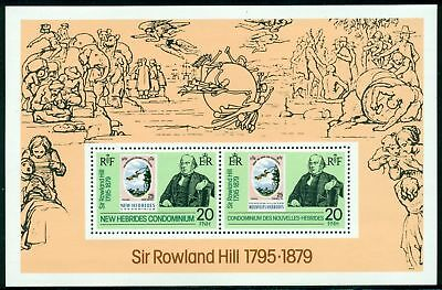 New Hebrides (BR) Scott #266a MNH S/S Sir Rowland Hill PHILATELY $$