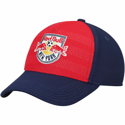 007e3bcf8b7 New York Red Bulls adidas Youth Authentic Structured Flex Hat - Red Navy