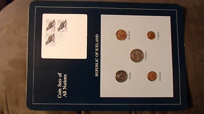 Coin Sets of All Nations Iceland w/card all 1981 UNC 3-200