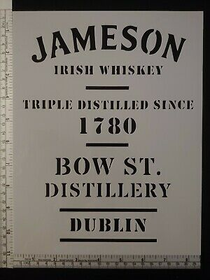 "Jameson Irish Whiskey Dublin 8.5"" x 11"" Custom Stencil FAST FREE SHIPPING"