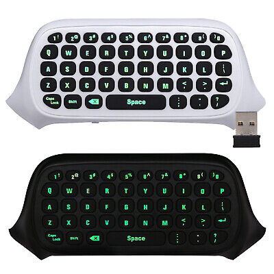 MoKo 2.4G Receiver Wireless Chatpad Game keyboard Backlit Keypad for Xbox One S