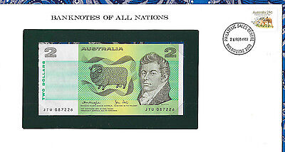 Banknotes of All Nations Australia 2 Dollars 1979 P43c UNC Knight/Stone JTU