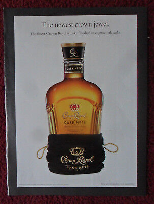 2007 Print Ad Crown Royal Whiskey ~ CASK no. 16 The Newest Crown Jewel