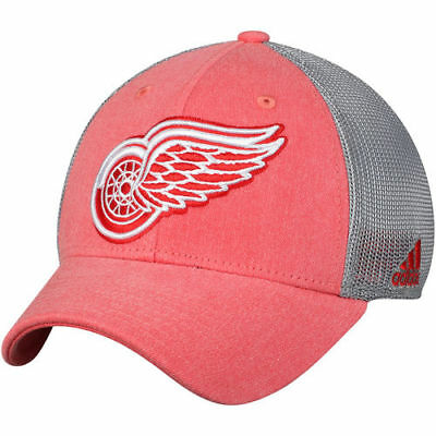 new style 90af3 c3044 adidas Detroit Red Wings Red Gray Sun Bleached Meshback Flex Hat