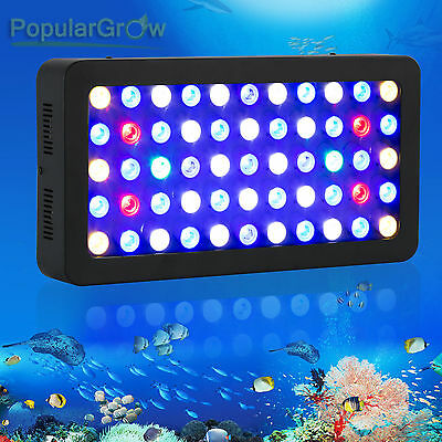 PopularGrow Dimmable165w LED Aquarium Grow Light For Fish Reef Coral Lamp NEW