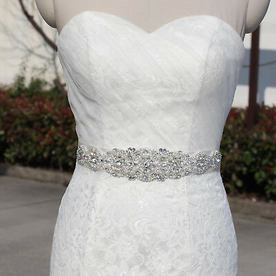 Wedding Dress sash belt Crystal waist Belt with Beaded Rhinestones Bridal sash