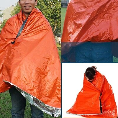 Outdoor Portable Emergency Sleeping Survival Bag Thermal Blanket Camping Tools