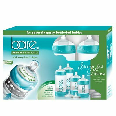 Baby Bottle - Bare Air-Free Feeding System, Easy Latch Nipple For Bottle-Fed