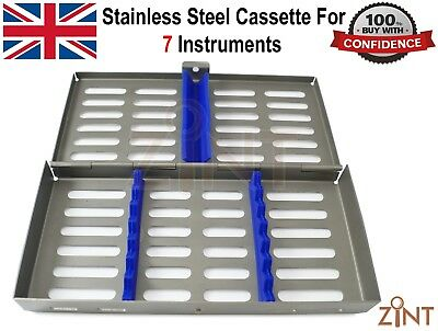 Stainless Steel Cassette For 7 Pcs Surgical Sterilization Autoclave Lab Tool New