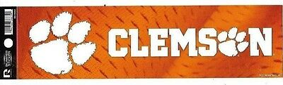 "Clemson ""tigers"" Official Ncaa Bumper Sticker / Decal"