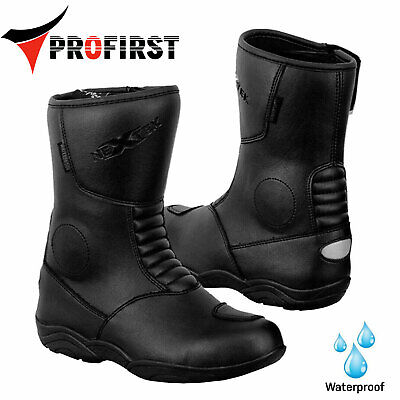 Motorbike Leather Boot Waterproof Motorcycle Racing Sport Touring Shoes Armoured