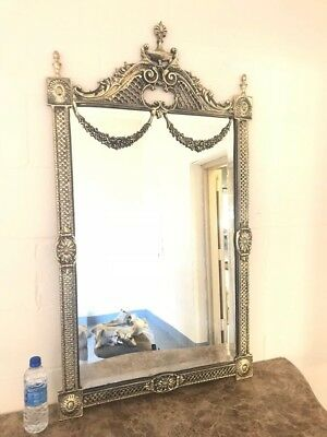 Wall Brass Mirror Frame, Victorian French Style Louis Xv