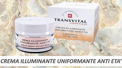 Transvital  Essentials Crema Illuminante Uniformante Anti Eta 50Ml