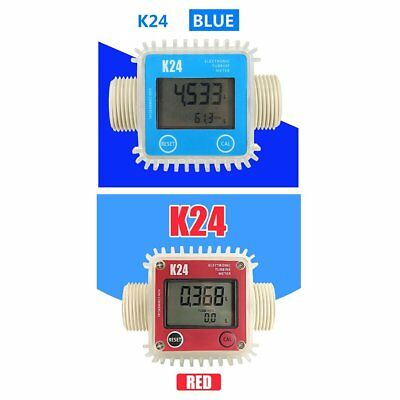 K24 LCD Digital Turbine Gauge For Diesel Chemicals Water Oil Fuel Flow Meter