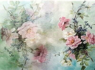 Rice Paper for Decoupage, Scrapbooking, Sheet Craft Vintage Roses Light 3