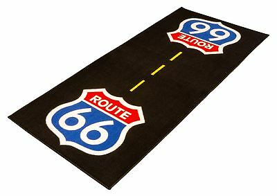 Biketek GRGMAT59 Motorcycle/Bike Garage Mat Series 3 – Route 66 190 x 80cm