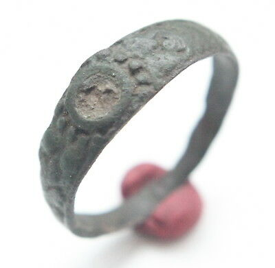 Post Medieval Ornament Bronze Finger Rings (JAN55)