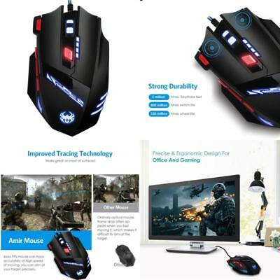 Amir Gaming Maus, 9200DPI Gamer Maus, USB Wired Gaming Mouse, Gaming Maus f&#xFC
