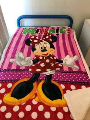 "Minnie Mouse All season Mink Faux Fur ""Throw"" blanket Size100x 150cm"