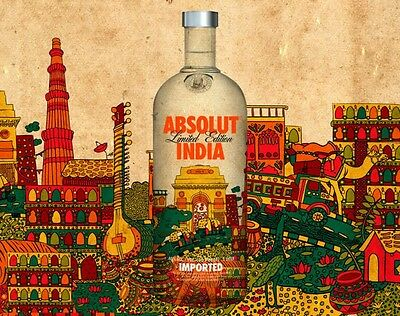 Absolut Vodka India Limited Edition 1000ml New And Sealed!!!