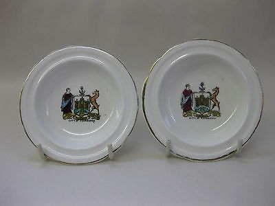 City of Edinburgh ~ Pair of Vintage Souvenir Pin Dishes ~ Anderson Arcade