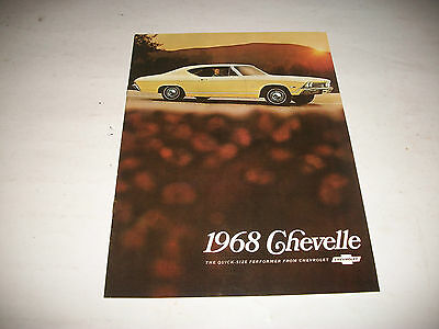 1968 Chevrolet Chevelle  Sales Brochure Catalog Canadian Issue Clean No Stamp