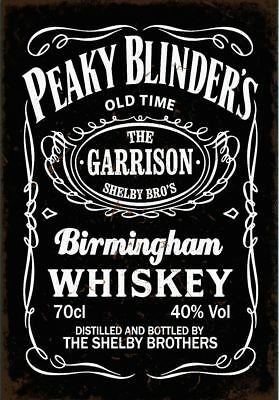 Peaky Blinders Whiskey Poster A5..A4. A3..A2 options 260gsm