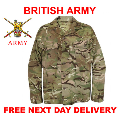 British Army Pcs Barrack Shirt Mtp Camo Multicam Combat Jacket New & Grade1