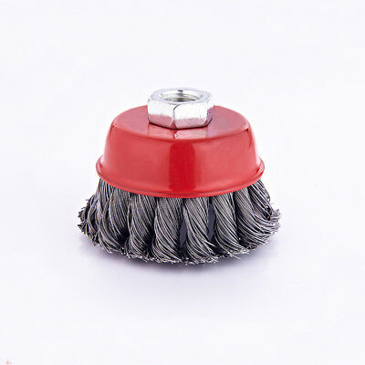 1pcs 3'' 75mm Steel Wire Knot Knotted Cup Brush for Angle Grinders Removal Rust