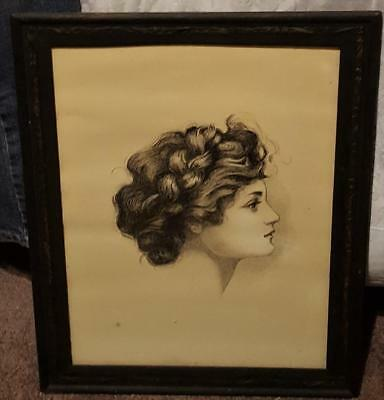 Beautiful Vintage Artwork Print - Beautiful Old Frame - VGC - LOOKS OLD - PRETTY