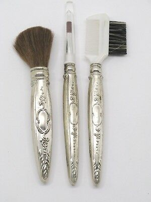 Towle Sterling Silver Handle Make Up Brushes