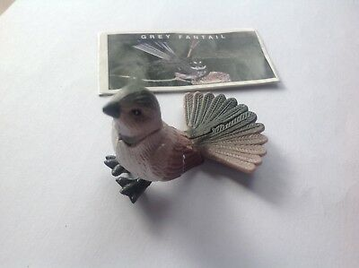 Yowie Collectible Toy Series 2 1998 Grey Fantail Scientific Papers