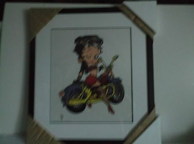 Betty Boop Biker Betty Boop Cel Sericel Limited Edition Cutomed Framed