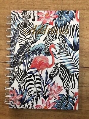 Address Book 190 x 130mm Spiral - Flamingo Zebra 72 Leaf Cumberland