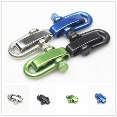 1PC 304 Stainless Steel U Adjustable Shaped Shackle Buckle for Survival Paracord