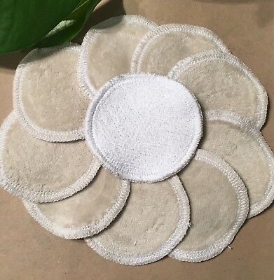 Reusable Makeup Wipes - WHITE face pads Australia cloth wipes cosmetic round eco
