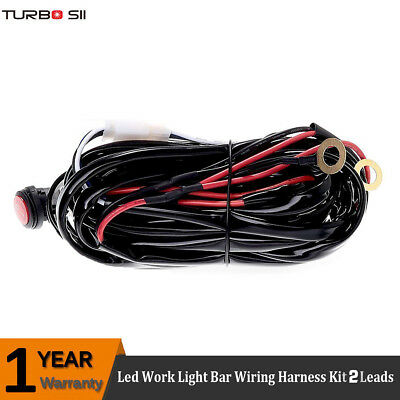 1 Lead 12V Wiring Harness Kit ON-OFF Switch Relay Fuse for Led Work Light Bar